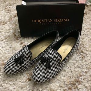 Christina Siriano houndstooth loafers